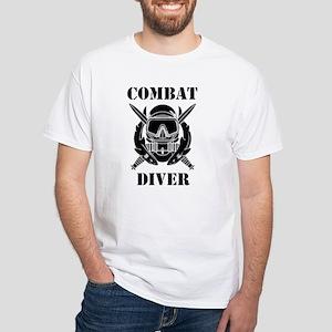Combat Diver (3) White T-Shirt