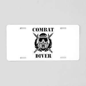 Combat Diver (3) Aluminum License Plate
