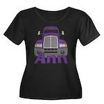 Trucker Ann Women's Plus Size Scoop Neck Dark T-Sh