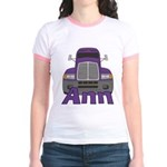 Trucker Ann Jr. Ringer T-Shirt