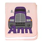 Trucker Ann baby blanket