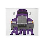 Trucker Ann Throw Blanket