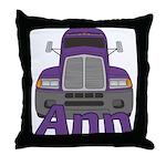 Trucker Ann Throw Pillow