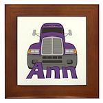Trucker Ann Framed Tile