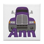 Trucker Ann Tile Coaster
