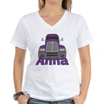 Trucker Anna Women's V-Neck T-Shirt