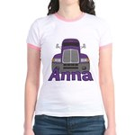 Trucker Anna Jr. Ringer T-Shirt