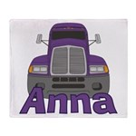 Trucker Anna Throw Blanket