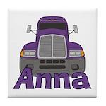 Trucker Anna Tile Coaster