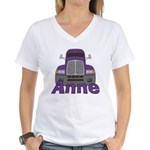 Trucker Anne Women's V-Neck T-Shirt
