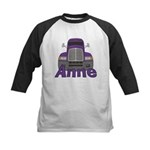 Trucker Anne Kids Baseball Jersey