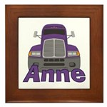 Trucker Anne Framed Tile