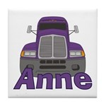 Trucker Anne Tile Coaster