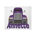 Trucker Annette Throw Blanket
