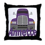 Trucker Annette Throw Pillow