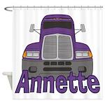 Trucker Annette Shower Curtain