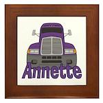 Trucker Annette Framed Tile