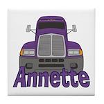 Trucker Annette Tile Coaster
