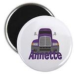 Trucker Annette Magnet