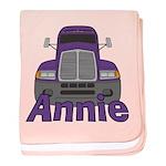 Trucker Annie baby blanket