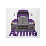 Trucker Annie Throw Blanket