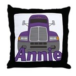 Trucker Annie Throw Pillow