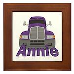 Trucker Annie Framed Tile