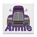 Trucker Annie Tile Coaster
