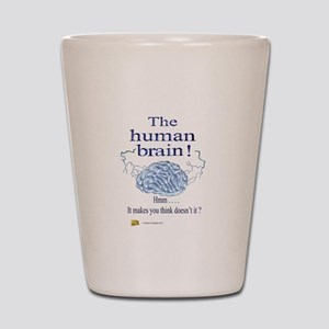 The human brain Shot Glass