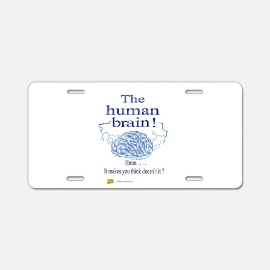 The human brain Aluminum License Plate