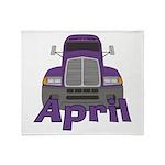 Trucker April Throw Blanket