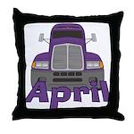Trucker April Throw Pillow