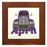 Trucker April Framed Tile
