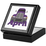 Trucker April Keepsake Box