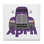 Trucker April Tile Coaster