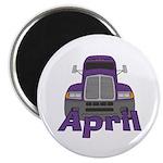 Trucker April Magnet