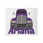 Trucker Ariana Throw Blanket