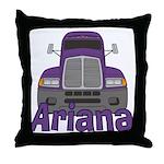 Trucker Ariana Throw Pillow