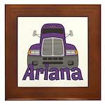 Trucker Ariana Framed Tile