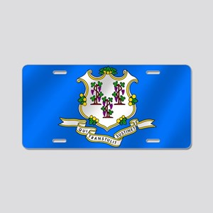 Connecticut State Flag Aluminum License Plate