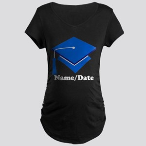 Personalized Blue Graduation Maternity Dark T-Shir