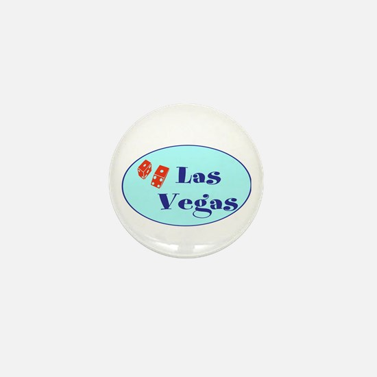 Las Vegas, NV, dice! Mini Button