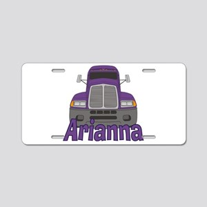 Trucker Arianna Aluminum License Plate