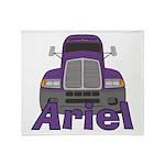 Trucker Ariel Throw Blanket