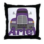 Trucker Ariel Throw Pillow
