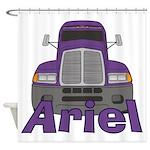 Trucker Ariel Shower Curtain