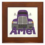 Trucker Ariel Framed Tile