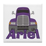 Trucker Ariel Tile Coaster