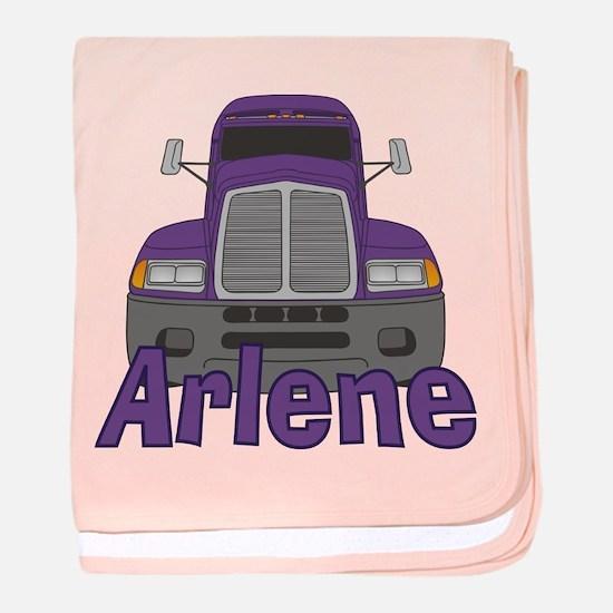 Trucker Arlene baby blanket