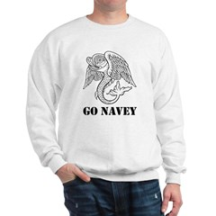 Go Navey Sweatshirt (white Or Grey)